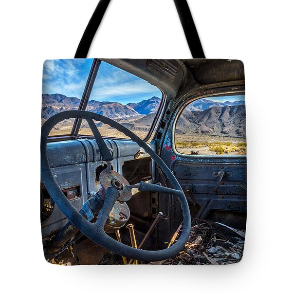 Truck Desert View Tote Bag by Peter Tellone