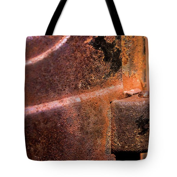 Tote Bag featuring the photograph Truck Door Hinge by Onyonet  Photo Studios