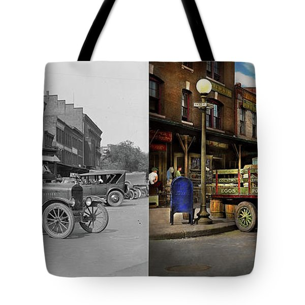 Truck - Home Dressed Poultry 1926 - Side By Side Tote Bag by Mike Savad