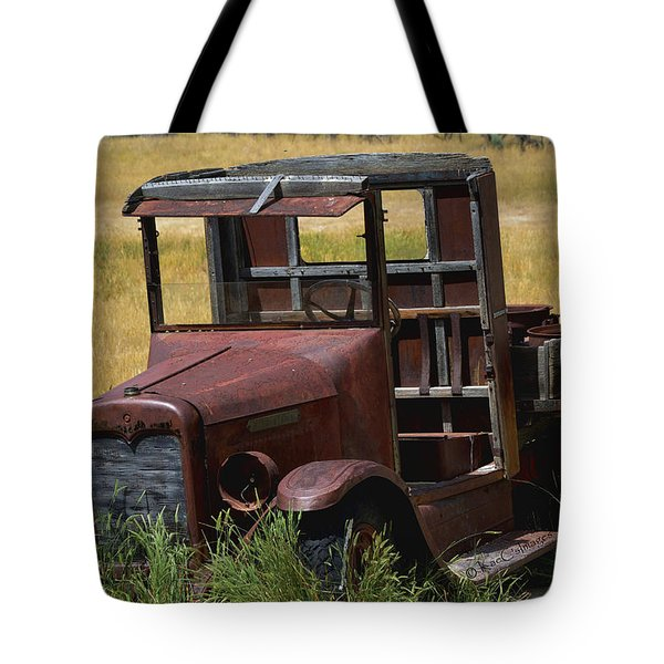 Tote Bag featuring the photograph Truck Long Gone by Kae Cheatham