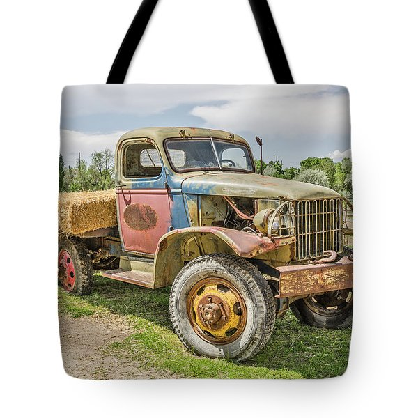 Tote Bag featuring the photograph Truck Of Many Colors by Sue Smith