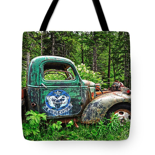 Truck Planter Crow Creek Tote Bag by Diane E Berry