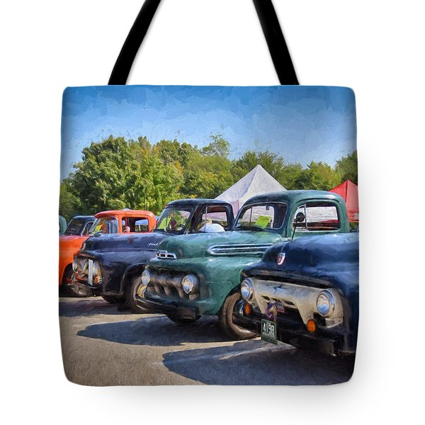 Trucks On Display Tote Bag