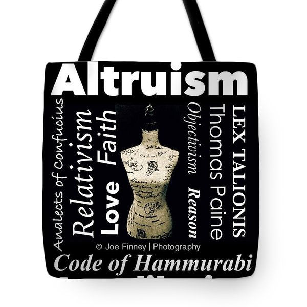 True Altruism - No.9188 Tote Bag