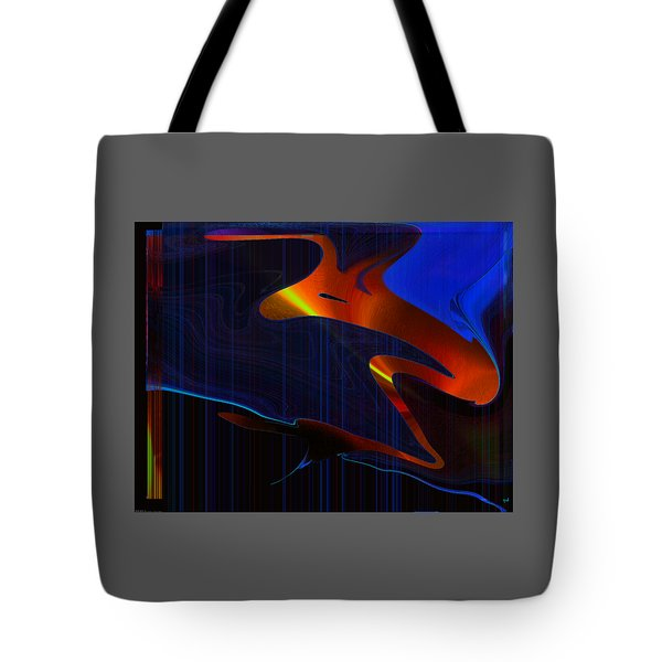 Tote Bag featuring the digital art True Companion by Yul Olaivar