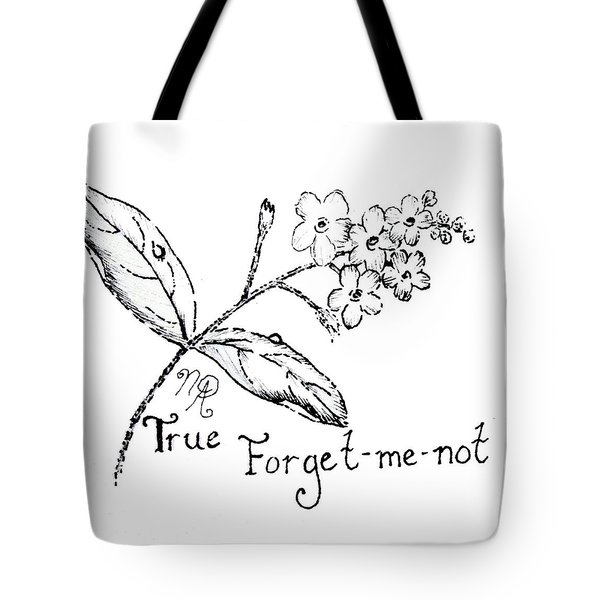 True Forget-me-not Tote Bag