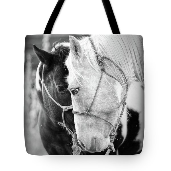 Tote Bag featuring the photograph True Friends by Sharon Jones