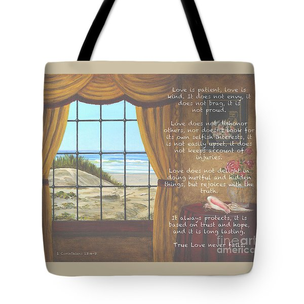 True Love Quote Tote Bag