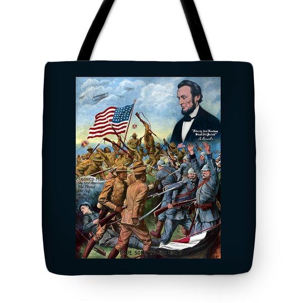 True Sons Of Freedom -- Ww1 Propaganda Tote Bag