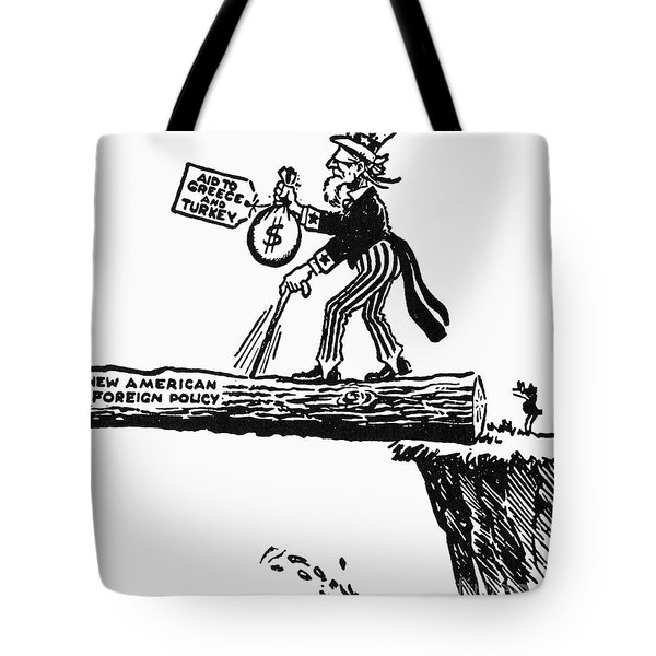 Truman Doctrine Cartoon Tote Bag by Granger