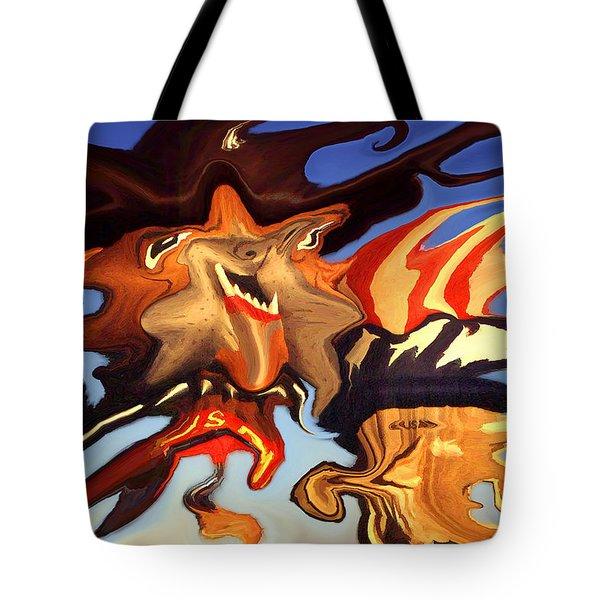 Donald Trump, The Bizarre American President - Modern Artwork Tote Bag