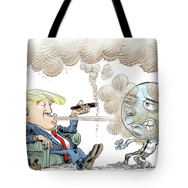 Trump And The World On Climate Tote Bag