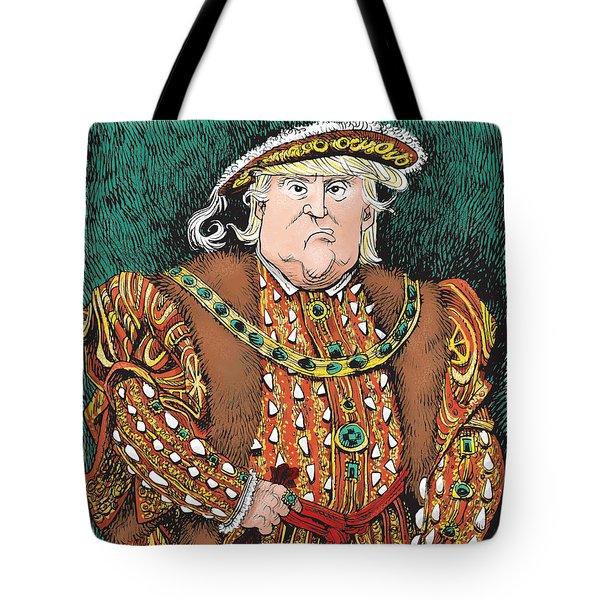 Trump As King Henry Viii Tote Bag