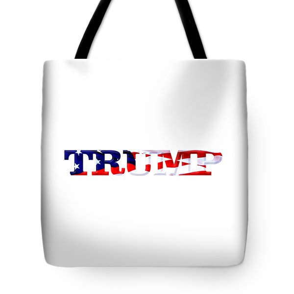 Trump - Fort Mchenry Flag Overlay Tote Bag