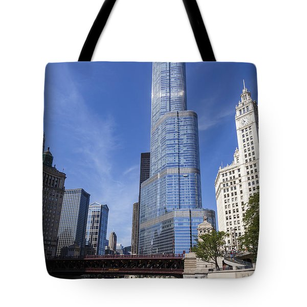 Trump Tower Chicago Tote Bag by Adam Romanowicz