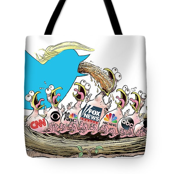 Trump Twitter And Tv News Tote Bag