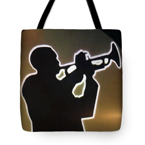 Trumpet - Classic Jazz Music All Night Long Tote Bag by Christine Till