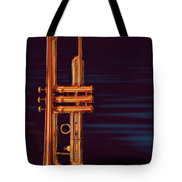 Trumpet-close Up Tote Bag by Tim Bryan