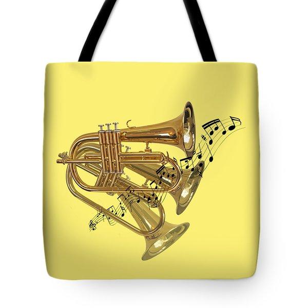 Trumpet Fanfare Tote Bag