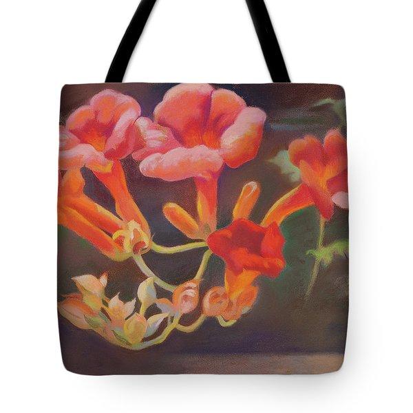Trumpet Flowers Tote Bag