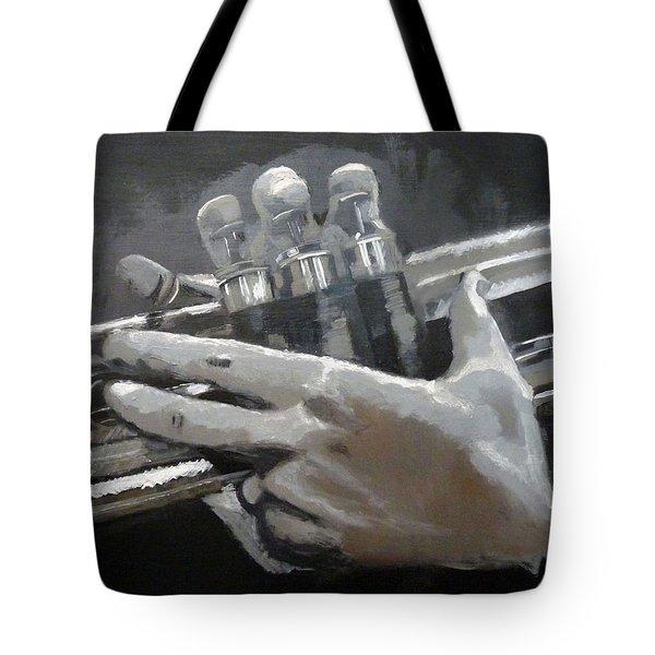 Trumpet Hands Tote Bag
