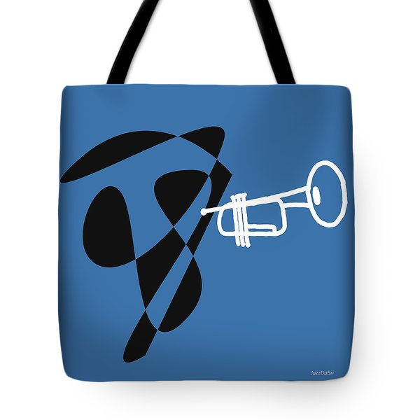 Trumpet In Blue Tote Bag