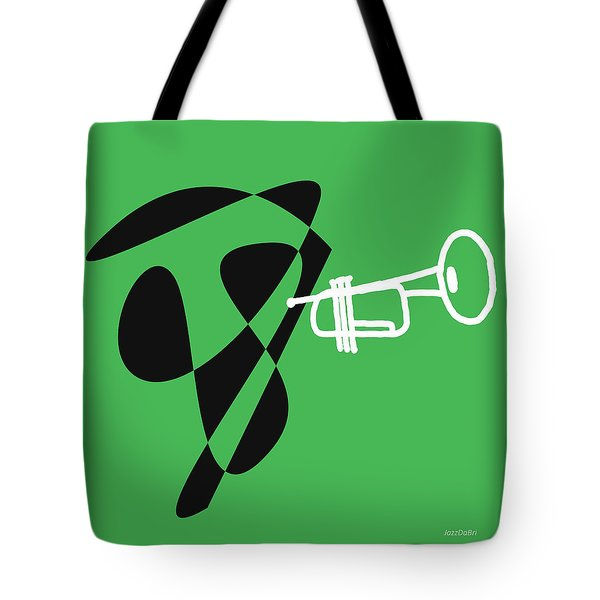 Trumpet In Green Tote Bag