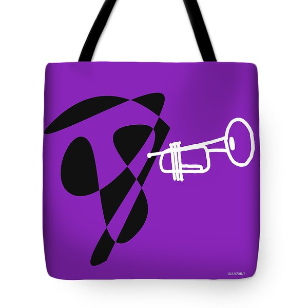 Trumpet In Purple Tote Bag