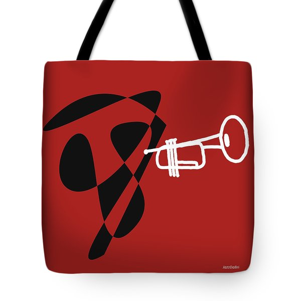 Trumpet In Orange Red Tote Bag