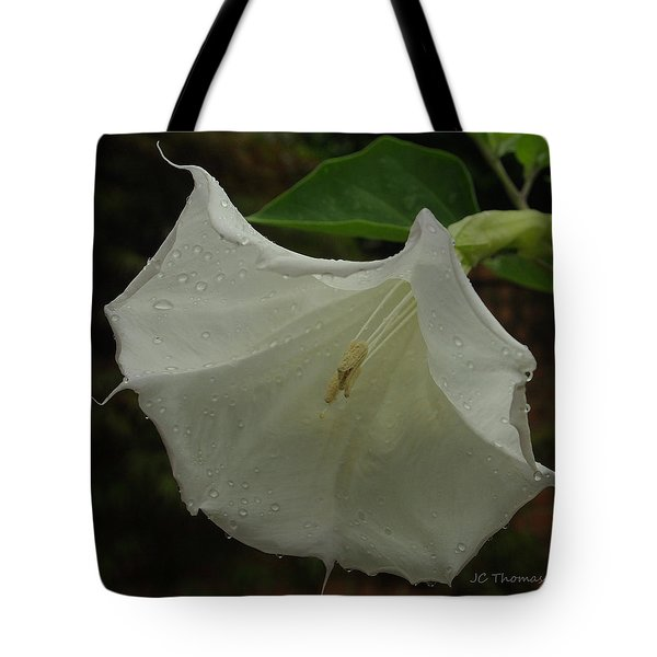 Trumpet In The Rain Tote Bag