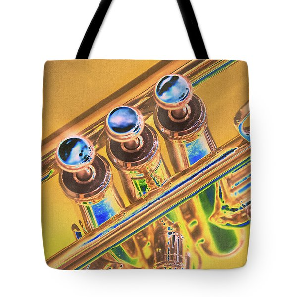 Trumpet Keys Tote Bag by Pamela Williams