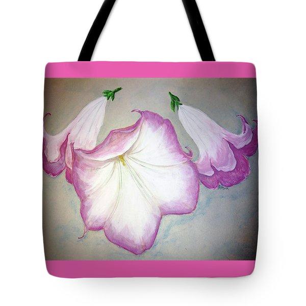 Trumpet Lilies Tote Bag