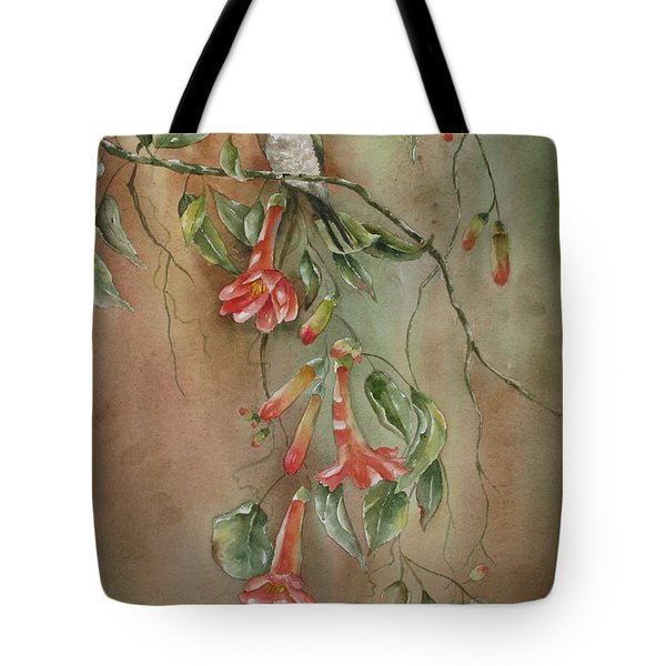 Trumpet Nectar Tote Bag by Mary McCullah
