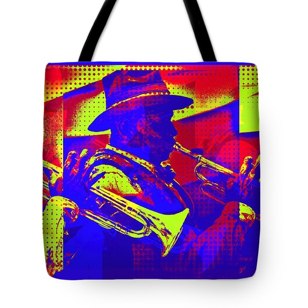 Trumpet Player Pop-art Tote Bag