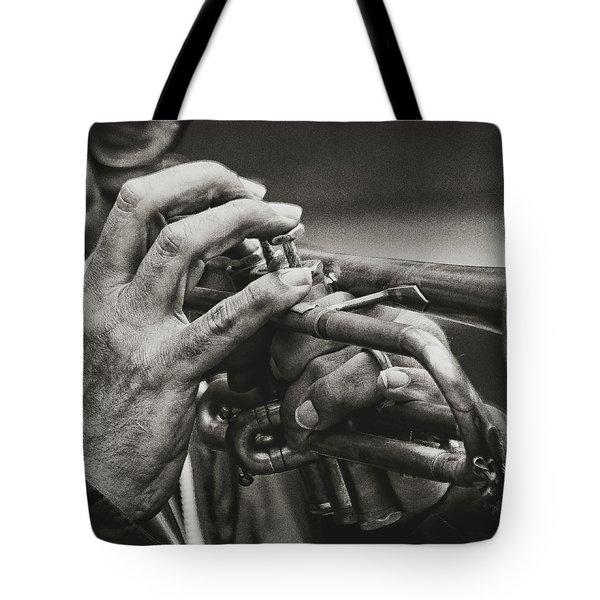 Trumpet Solo Tote Bag