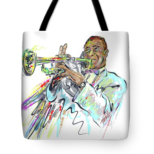 Music Trumpeter Louis Armstrong Tote Bag
