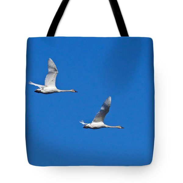 Tote Bag featuring the photograph Trumpeter Swan 1727 by Michael Peychich