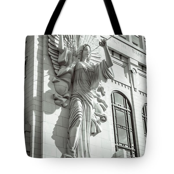 Tote Bag featuring the photograph Trumpeting Angel by Guy Whiteley