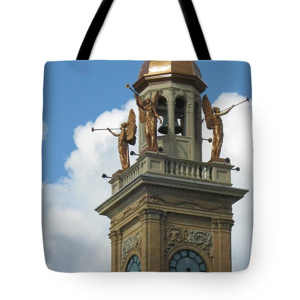 Trumpeting Angels Tote Bag