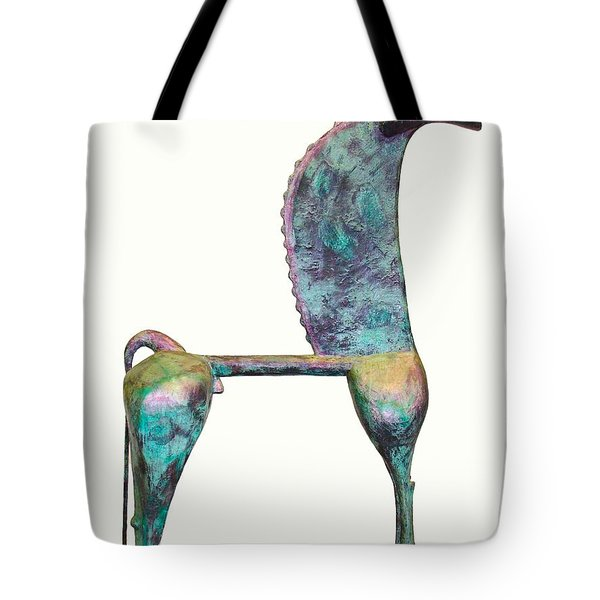 Trumpeting Horse 8 Tote Bag by Al Goldfarb