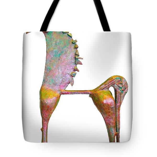 Trumpeting Horse 9 Tote Bag