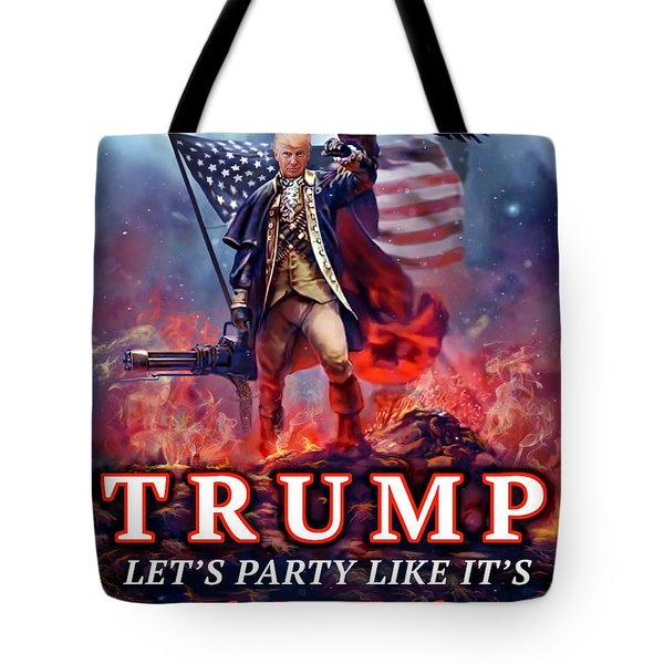 Tote Bag featuring the photograph Trumpnado by Don Olea