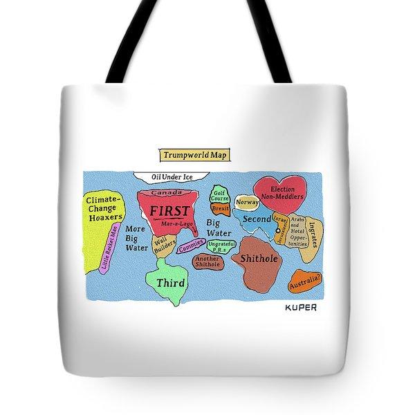 Trumpworld Map Tote Bag