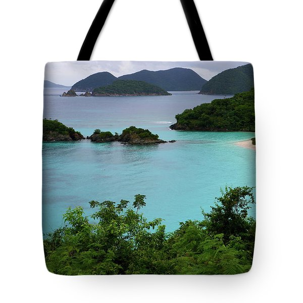Tote Bag featuring the photograph Trunk Bay At U.s. Virgin Islands National Park by Jetson Nguyen