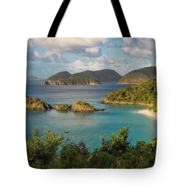 Tote Bag featuring the photograph Trunk Bay Morning by Adam Romanowicz