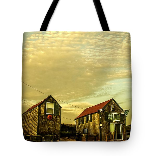 Truro Beach Houses Tote Bag