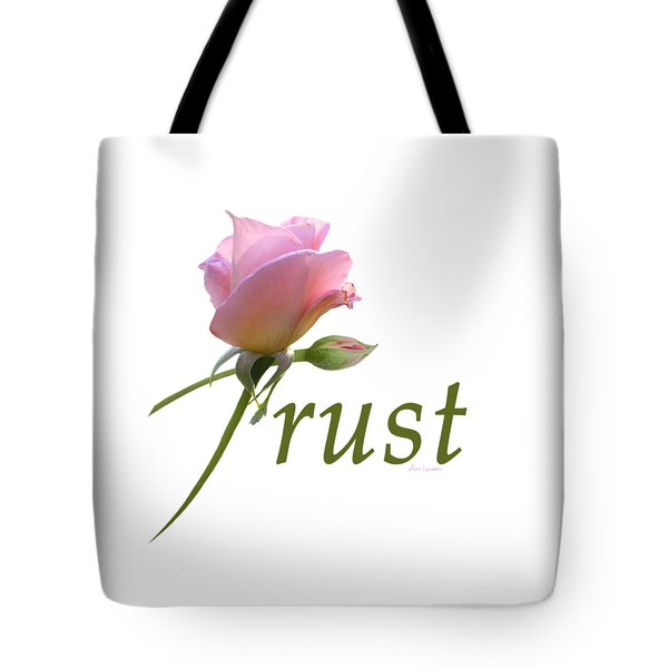 Tote Bag featuring the digital art Trust by Ann Lauwers