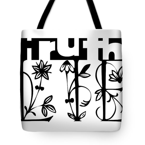 Truth - Lie Concept Tote Bag