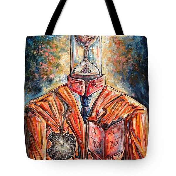 Truth Running Out Of Time Tote Bag by Darwin Leon