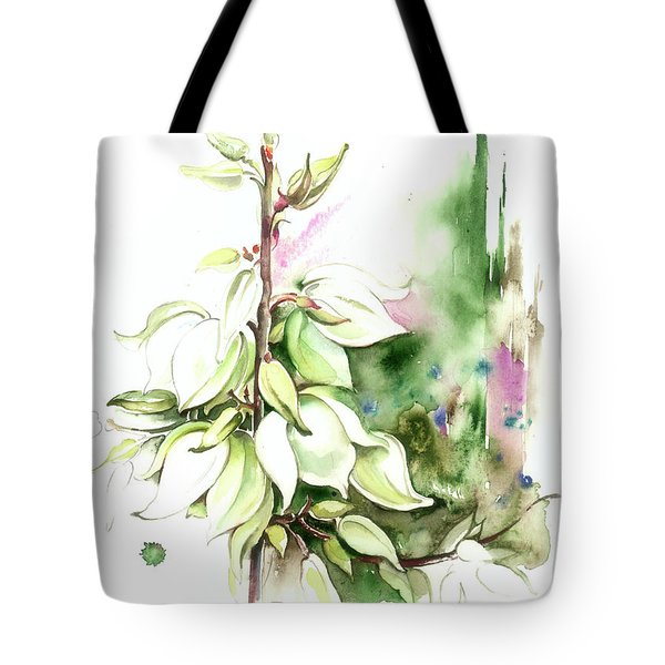 Tote Bag featuring the painting Trying On Wedding Dress by Anna Ewa Miarczynska